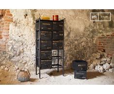 pib - Cassapanche & Credenze - Cassettiera da 10 cassetti in stile vintage, Un mobile dalle finiture in stile industriale vintage.