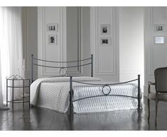 Bed Store Letto Matrimoniale in Ferro BATTUTO Modello Conca