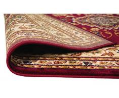 ERugs - Tappeto extra large, con motivo floreale orientale in stile persiano tradizionale, colore: rosso, 160 x 230 cm