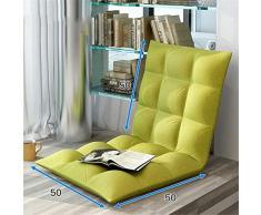 FeliciaWen Divano Letto Sedia Pieghevole allungabile Lounge Pieghevole Regolabile Piano Lounger Sleeper Divano Letto futon (Colore : Verde, Dimensione : 50 * 100 * 10cm)