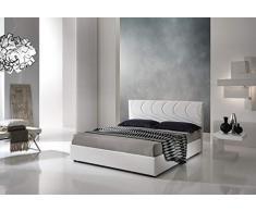 Letti Per Dormire.it - Letto Grecia Imbottito Matrimoniale King Size con Contenitore (Fucsia 15)