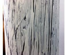 Specchio a figura intera,realizzato su anta di armadio di recupero degli anni '60,decapato in bianco stile Shabby su base noce.cm49x157
