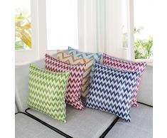 JWKZ nuovo prodotto breve cuscino del comodino moderno in misto cuoio imitazione divano cuscino del sedile cuscino, 40 * 40 (nucleo del manicotto), cielo blu
