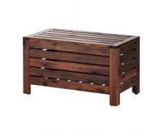 Ikea ÄPPLARÖ - Cassapanca in legno di acacia massiccio, colore: Marrone