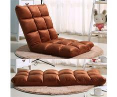 Vogvigo regolabile 14-position memory foam Floor Chair, Gaming Chair lounge divano letto futon materasso sedile sedia (caffè)