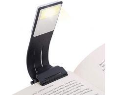 Lampada da Lettura, LENDOO Luce da Lettura, Luce da scrivania, Portatile con Pinza, 4 Luminosità Regolabile, USB Ricaricabile, Lampade da libro per Lettura, Libri, Scrivania, Viaggio etc.