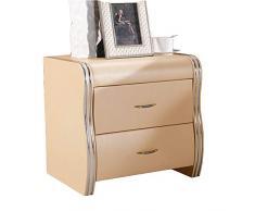 Bedside table LVZAIXI Comodino in cuoio moderno semplice di arte del comodino di arte del comodino di cuoio del comodino moderno semplice