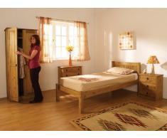 Maya - Arredamento da camera con comodino, cassettiera & armadio in legno di pino massiccio