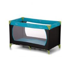 Hauck Dream N Play Lettino da Viaggio per Neonati e Bambini Fino a 15 Kg con Leggero Anti-Ribaltamento, Multicolore (Waterblue)