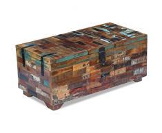 binzhoueushopping - Cassapanca in legno massiccio di recupero, dimensioni 80 x 40 x 35 cm (L x l x A)