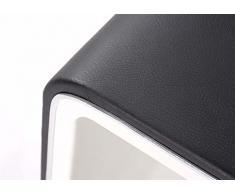 Modular mia048,31.li Comodino, similpelle, nero/bianco, 53 x 40,5 x 45 cm