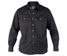 Duke Nuova Camicia Di Denim Nero Occidentale Grande Letto King Size 2XL