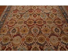 persiano EVA beige lana tappeto fatto a mano tradizionale orientale tappeto persiano e tappeti, 100% Lana, Beige, 8x10 (244x305cm)