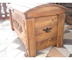 Cassapanca in legno tavolino baule vintage in legno cassapanca (MON2)
