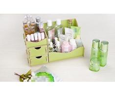 KTZLL Comodino comò pelle cura cosmetica storage desktop casella cassetto gli scaffali di legno , 3