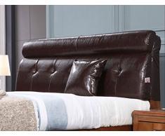 LEITSA- Comodino morbidi cuscini dello schienale Borsa grande Affidatevi Sul Cuscino Hood Doppia pelle Grande schienale staccabile europea (Dimensioni: lunghezza 120 * 60 * alto spessore 12 (cm) ( Colore : Marrone scuro )