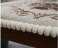 GMM® Cuscino Europei di alta qualità divano in tessuto di lusso cuscini ufficio auto comodino ambientale cuscino pelle-amichevole , 55*55cm , meters white