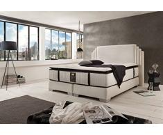 Schlichter Mobili Letto boxspring King George Deluxe (bianco, 200 x 200 cm)