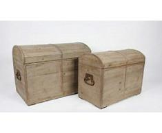 Antico legno espositore graugewaschen 41 cm x 45 cm (Cassapanca piccola)