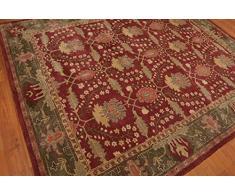 (152x244cm) a mano Franklin lana tappeto persiano tradizionale orientale rosso e tappeti ...