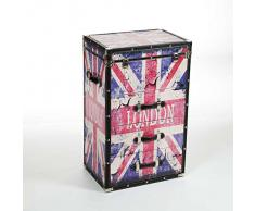 CASSETTIERA 3 CASSETTI E TO APRIBILE STILE VINTAGE LONDON UK 49X35X78