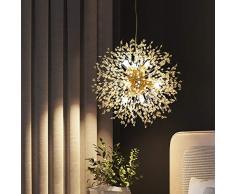 Dellemade Sputnik - Lussuoso lampadario a sospensione dorato, a 8 luci, per camera da letto, soggiorno, sala da pranzo