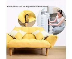 K-Y Divano Letto Divano Letto futon Divano Amore Divano Letto for mobili for la casa Soggiorno Divano reclinabile Pigro Pieghevole Posteriore & Braccio (Color : Yellow)