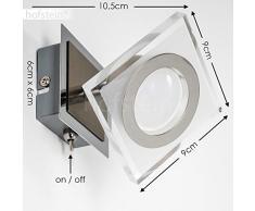 Faretto LED da Parete Modello Kolari Ideale per Camera da letto- Faretto da Parete Orientabile Regolabile per Soggiorno- Spot LED Dimmerabile Ideale per Ingresso