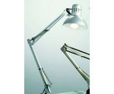 Lampada Da Tavolo Modello Architetto Colore silver - Misure H. 74 Cm - 1Xe27 Max. 60W - Lampada Modello Perenz 4025a