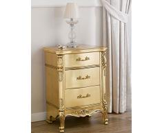 Simone Guarracino Comodino Gerald Stile Barocco Francese Foglia Oro