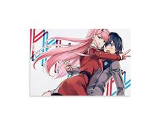 DSGDS 2 Darling in The Franxx poster su tela da parete giapponese anime poster per camera da letto pareti casa estetica 40 x 60 cm