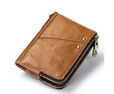 KJJYUK Portafoglio da donna Portafoglio donna Porta carte Portamonete Portafoglio donna Portafoglio originale con tasca portamonete per telefono, valletto marrone