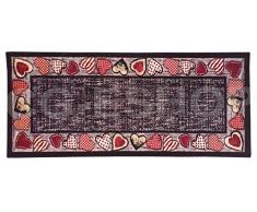 Confezioni Giuliana Tappeto PASSATOIA Tirolese Poliammide Ingresso Cucina Camera Cuore Lana 1 (60x190)