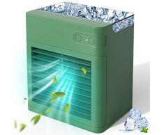 Mini Raffreddatore Daria, ricarica USB, 3 velocità regolabili e 7 luci a LED, Grande serbatoio dellacqua, maggiore capacità.per casa, camera da letto, ufficio, esterno