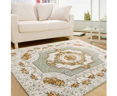 CHENGYANG tappeti da salotto Tappeto orientali motivo floreale Tappeti Rettangolo orientale e classico tappeto camera letto Verde 130cm x 190cm