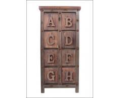Phoenixarts 482 - Armadio in legno dal design industriale, stile vintage, 106 x 50 x 40 cm