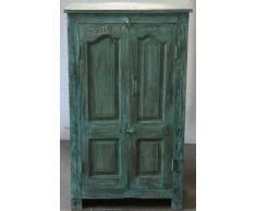 Guru-Shop Cabinet, Armadietto Laterale, Cassettiera, Armadio, in Legno Massello, Coloniale, Blu, 123x71x39 cm, Armadi Armadi