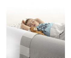 BANBALOO MAX -Barriera di sicurezza letto per bambini - Anticaduta infantile/Parapetto di schiuma antiscivolo con proteggi-materasso impermeabile per letti doppi, a scomparsa, 90,150cm e Montessori.