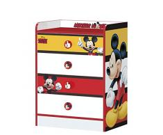 Stor - Cassettiera per Bambini con cassetti | Topolino Stripes | Disney - Dimensioni: 80,5 x 60 x 40 cm - Diversi Personaggi