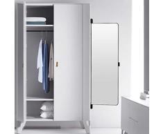 Specchio specchietto retrovisore specchiato specchietto retrovisore Pieghevole Specchio Rotante Armadio Specchio Specchio Armadio Specchio Specchio Scorrevole (Color : Black, Size : 30 * 100cm)