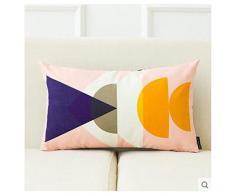 ufficio pratico comodino cuscini del divano vita Il nucleo nuova scandinavo moderno geometria minimalista divano in pelle scamosciata cuscini cuscino ufficio cuscino creativo contenente Dddlt- pillow and cushions ( colore : B )
