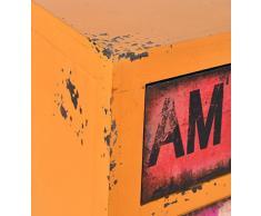 Comodo/cassettone - colore: giallo arancio - stile: design industriale/container look/vintage