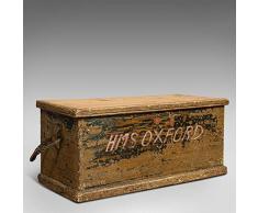 Cassapanca della nave antica, inglese, pino, mercante, baule degli attrezzi, vittoriano, circa 1850