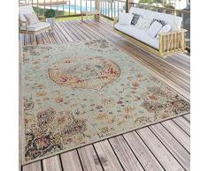 Paco Home Tappeto per Interni ed Esterni, per Balcone e terrazza, con Motivo Orientale in Beige, Dimensione:80x150 cm