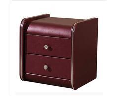 Small coffee table Armadietto armadietto armadietto lato del comodino, cassetto in pelle a due strati facile da pulire, colore può essere selezionato, 46 * 42 * 48 CM