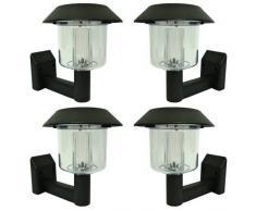 Lampade solari da parete, confezione da 4, fissaggio incluso, lampadina a LED