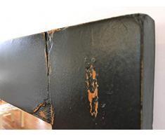 Specchio da muro a figura intera con cornice di anta di armadio del 1930,con maniglia,restaurato e decapato scuro stile Industrial,cm 69,5 x 162,5