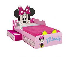 Worlds Apart 530159 - Letto di Minnie, Disney, in legno, colore: rosa, 143 x 77 x 87 cm