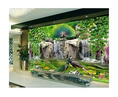 carta da parati 3d della foto su ordinazione Roccia fresca del fiore del pavone del valletto Decorazione domestica soggiorno 3d murales di carta da parati per pareti 3 d-200X140CM