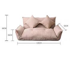 YAOHM Mobili da Pavimento reclinabili futon Giapponese Divano Letto Moderno Pieghevole Regolabile Lettino Chaise Longue reclinabile per Divano del Soggiorno,3